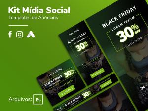 Criativo Preview -Black Friday - Display, Facebook, Instagram Template Grátis | eKyte
